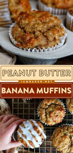 These Peanut Butter Banana Muffins are healthy and have a ton of flavor! This breakfast muffin recipe is even vegan and sugar-free. What a win! Make this a back-to-school breakfast for the kids! Peanut Butter Muffins, Peanut Butter Recipes, Back To School Breakfast, I Am Baker, Breakfast Muffins, Homemade Cookies, Easy Healthy Recipes, Sugar Free, Holiday Ideas