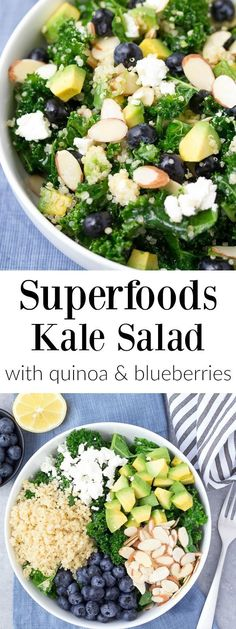 Blueberry and Kale salad