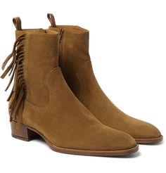 Saint Laurent - Fringed Suede Boots
