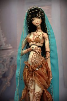 Meskhenet & Nekhebit Fine Art Porcelain BJD Dolls by Forgotten Hearts http://www.Forgotten-Hearts.com | Flickr - Photo Sharing!