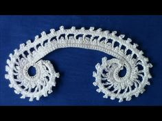 ▶ Irish Crochet Basics, a double picot scroll - YouTube