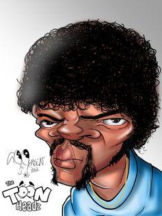 Samuel L. Jackson Caricature by AJToonHeadz.deviantart.com on @deviantART