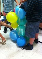 Team Building activities for school Balloon Tower and Tennis Ball Drop