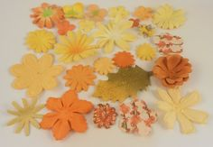 A sampler assortment set of Quality Prima Marketing Mulberry Paper Flowers in an…