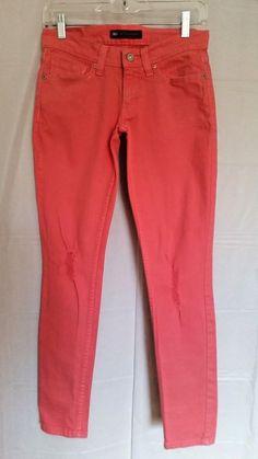 4adfa9df7 LEVI'S Womens 524 Too Superlow Orange CORAL Color Distressed Sz 3M 26 x 32  LEVIS #Levis #524TooSuperlow