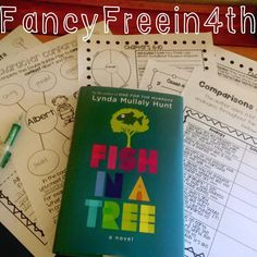 Fish in a Tree novel study unit resources with lesson plans and quizzes aligned to Common Core!