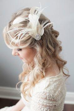 Bridal Fascinator Great Gatsby Headpiece by somethingjeweled, $85.00