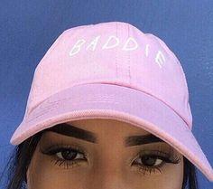 Baddie Pink Baseball Hat Embroidered - Freshtops Marketplace