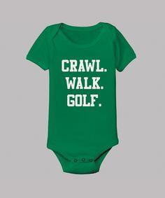 """Baby Clothes: """"Crawl. Walk. Golf."""" Baby Onesie"""
