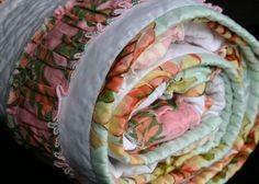 ruffle baby quilt.