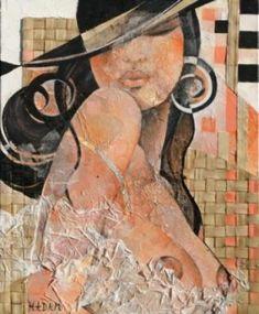 Ute Hadam / Clin d'oeil / 38x46cm Joy Art, Wall Art Wallpaper, Photo D Art, Funky Art, Digital Art Girl, Erotic Art, Art Techniques, Art World, Figurative Art