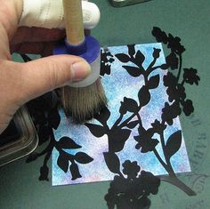 Roni Johnson: Ink Stains. Stipple Brush & Masks