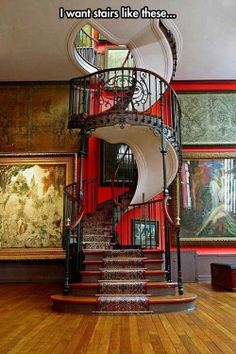 This is probably one of the coolest spiral staircases you will ever see.