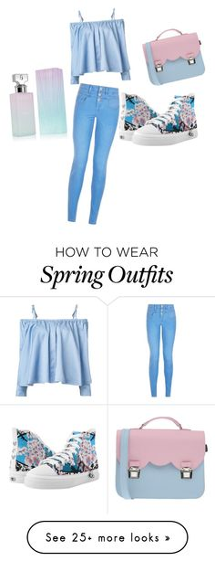 """""""Spring girly outfit. ESZA design feachure product"""" by nastyalabel on Polyvore featuring New Look, Sandy Liang, La Cartella and Calvin Klein"""