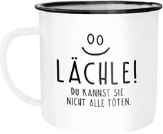 Emaille Tasse Becher Moin Hamburg Anker Kaffeetasse Moonworks®