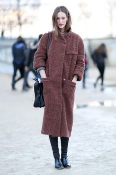 Idea for boucleWarm knitted coat. #PFW