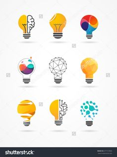 Find Light Bulb Idea Creative Technology Icons stock images in HD and millions of other royalty-free stock photos, illustrations and vectors in the Shutterstock collection. Creative Posters, Creative Icon, Creative Logo, Logo Design Inspiration, Icon Design, Layout Design, Logo Desing, Branding Design, Typography Logo