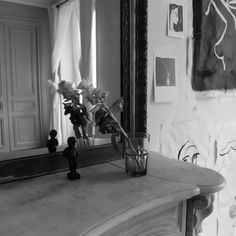 What Happens When An Artist Flees to a Flat in Paris? A Study in Aloneness & The Female Form -- VERITE PUBLISHED --- Art, female nude, form, yves klein, paris, france, eiffel tower, paris apartment, parisienne, painting, black and white, photography