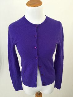 J. CREW navy blue cotton blend Full Zip Cardigan Sweater XS #JCrew ...