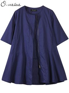 Sale 30% (38.59$) - O-NEWE Casual Women Half Sleeve Zipper Windbreaker Jacket