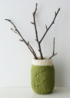 Ravelry: Spring Sprouts Mason Jar Covers pattern by Erin Black ~FREE Knitting Pattern