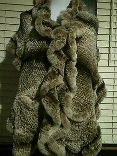 Genuine fur wrap   scarf   stole gray brown. Trixie Coyle Vintage · Women s  Accessories 6392e079a
