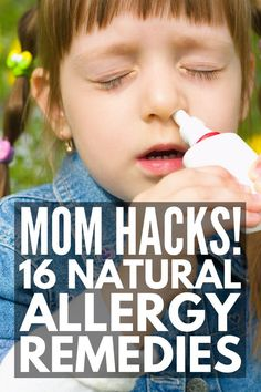 Natural Remedies For Allergies Natural Allergy Relief for Kids Allergy Remedies For Kids, Home Remedies For Allergies, Sinus Allergies, Cold Home Remedies, Runny Nose Remedies, Nose Allergy, Allergy Free, Natural Allergy Relief, Itchy Eyes