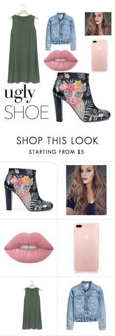 """""""Ugly shoe contest entry"""" by pheebster ❤ liked on Polyvore featuring Camilla Elphick, Lime Crime and Gap"""