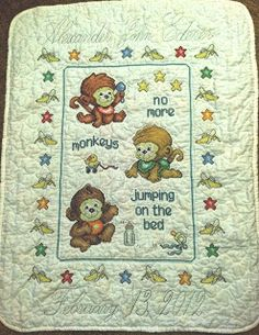 YAY! Finally I can postwhat I've been working on!  I made this quilt for my cousin Becky. She had a little boy on Feb 13th and her nurser...