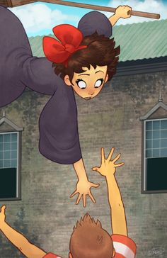 One of my favorite moments in any movie.   Honestly, the rest of the film I'm half asleep bored while Kiki runs errands and chitchats. Its not that its a bad movie, I'm just a 28-year-old guy watching a teenage girl make deliveries to old women.  kikis delivery service......But DANG. When that climax hits, I'm 1000% invested, edge of my seat, tears welling in my eyes.