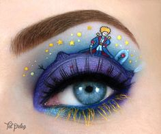 Creative eye make-up Creative Eye Makeup, Eye Makeup Art, Eye Art, Eyeliner Makeup, Fairy Makeup, Winged Eyeliner, Makeup Geek, Makeup Tips, Make Up Art