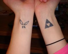 Triforce- would be so fitting to get the triforce tattoo since my name is Link...
