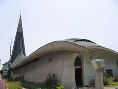 カトリック宝塚教会。村野藤吾氏が設計、1965年に建築。Takarazuka Catholic Church, Murano architect