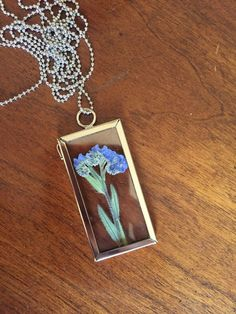 Forget-Me-Not Botanical Necklace Pressed by GlassHouseCollection