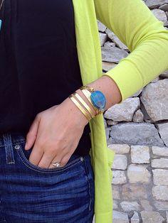 Kendi Everyday  oia jules leather & agate wrap bracelet  oiajules.com