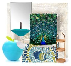 """""""bath"""" by shannongarner ❤ liked on Polyvore featuring interior, interiors, interior design, home, home decor, interior decorating, Universal Lighting and Decor, Pier 1 Imports, .wireworks and bathroom"""