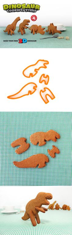 Make your own 3D dinosaur cookies.