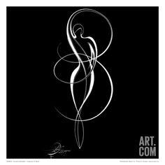 Dancing Silouhette I Print by Alijan Alijanpour at Art.com