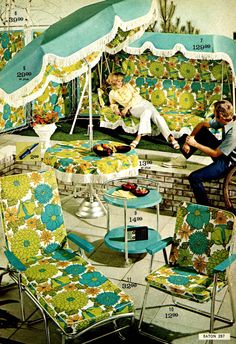 Vintage Home Flower power 1967 furniture design Vogue Vintage, Photo Vintage, Vintage Ads, Vintage Decor, Vintage Sheets, Dress Vintage, Vintage Clothing, Vintage Items, 1960s Furniture