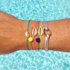 #lilieandkoh #summer #armcandy #stack Neon Bracelets, Pura Vida Bracelets, Summer Bracelets, Bracelets For Men, Handmade Bracelets, Beaded Bracelets, Shell Bracelet, Turquoise, Anklets