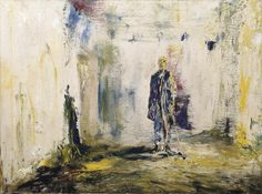 Jack B. Yeats The Old Walls 1945 oil on canvas 46 x National Gallery of Ireland, Dublin Kensington School, Jack B, Short Stories For Kids, Old Wall, Urban Life, Urban Landscape, Contemporary Paintings, Oil On Canvas, Art Drawings