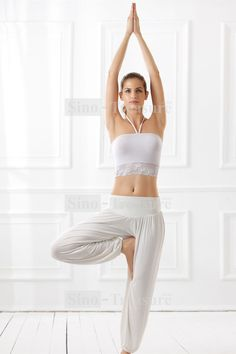 1c8b366718aa White Loose Lantern Yoga Pants