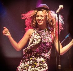 Pin for Later: Beyoncé Never Met a Wind Machine She Didn't Like Coachella 2014 At Coachella, Beyoncé hopped on stage for an impromptu dance party during her sister Solange's performance.