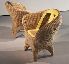 Fernando and Humberto Campana, the Brazilian brother design duo, have long been known for their unique combination of craft-meets-contemporary, recycled-meets Recycled Furniture, Wicker Furniture, Chair Design, Furniture Design, Higher Design, Kintsugi, Home Decor Accessories, Rattan, Accent Chairs
