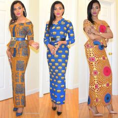 #africanfashion #african #fashion #hairstyles African Print Dresses, African Fashion Dresses, African Dress, Fashion Outfits, Ankara Long Gown Styles, Ankara Gowns, Ankara Styles, African Lace, African Wear