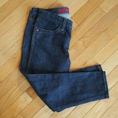"AG Adriano Goldschmeid  ""The Posh"" Dark wash jeans Brand new! Dark wash skinny crops with leather trim. AG Adriano Goldschmied Jeans Ankle & Cropped"