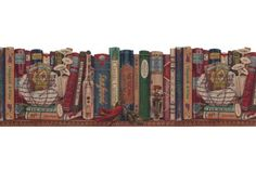 Kitchen Borders : Books Wallpaper Border B103051