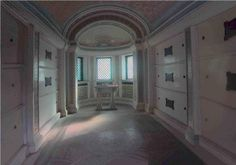 Interior of the Winterman family mausoleum. Looks innocent enough, doesn't it? You'd never know there was a vampire lying in wait in the lower levels. I barely got out with my life.  #vampire #ghost #haunting