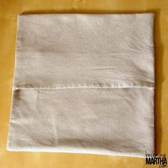 easy drop cloth envelope pillows!  Simple formula for getting measurement right.