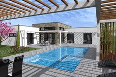 <div><b>Maison contemporaine de plain pied de type 4</b></div><div>1 suite parentale - 2 chambres - terrasses - Cellier - Garage</div><div>Surface Habitable: 124m² / Surface annexe: 52m²</div><div><br/></div>